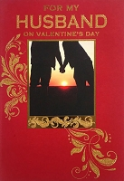 val11116 - $3.99 Retail Each - Valentine's Day Husband Greeting Cards - English Language - Premium - wholesale units of 3 cards
