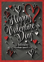 val11014 - $3.49 Retail Each - Valentine General Greeting Cards - English Language - wholesale units of 3 cards
