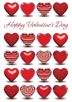 val11117 - $3.99 Retail Each - Valentine's Day General Greeting Cards - English Language - Premium - wholesale units of 3 cards