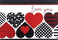 val11120 - $5.99 Retail Each - Valentine's Day Love Masculine Greeting Cards - English Language - Premium - wholesale units of 3 cards