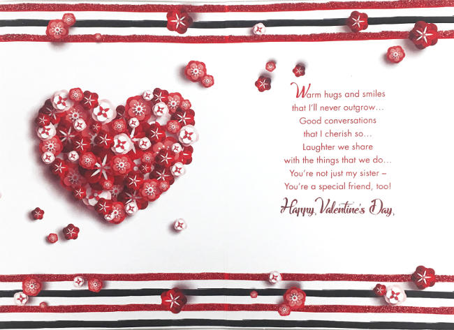 Wholesale Valentines Day Sister Greeting Cards