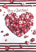 val11121 - $5.99 Retail Each - Valentine's Day Sister Greeting Cards - English Language - Premium - wholesale units of 3 cards
