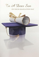 Grad014 - $3.99 Retail Each - Graduation Son Cards - PKD 3
