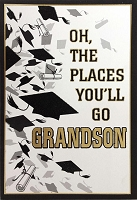 Grad025 - $3.99 Retail Each - Graduation Grandson Cards - PKD 3