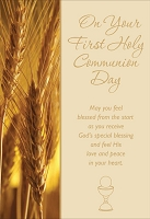 CCGC001 - $3.99 Retail Each - Holy First Communion - Greeting Cards - English - wholesale units of 3 cards