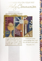 CCGC002 - $3.99 Retail Each - Communion General Greeting Cards - English - wholesale units of 3 cards