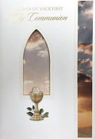 CCGC003 - $3.99 Retail Each - Communion General Greeting Cards - English - wholesale units of 3 cards