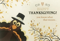 THA09 - $3.99 Retail Each - Thanksgiving Greeting Cards PKD 3
