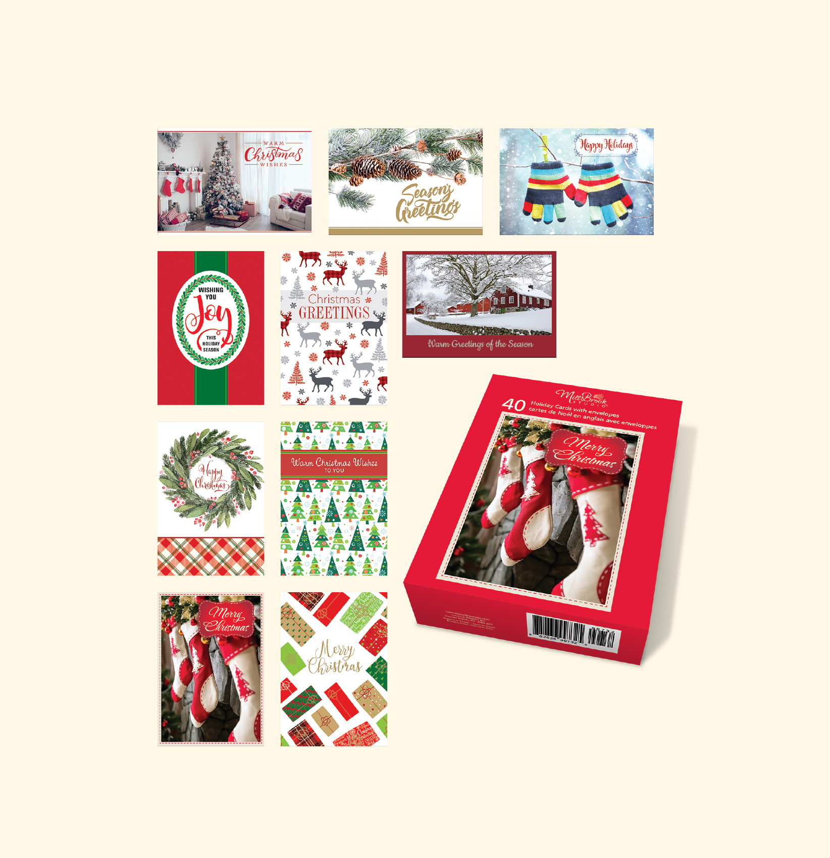Wholesale Boxed Christmas Greeting Cards
