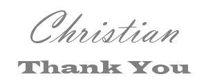 Christian Thank You