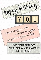 1021A - $2.80 Retail Each - Value Birthday Cards General PKD 6