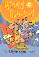 1244 - $3.49 Retail Each - Birthday Humorous Greeting Cards PKD 6