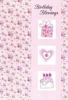 1722A - $2.80 Retail Each - Value Birthday Cards Religious PKD 6