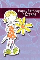 2717 - $3.49 Retail Each - Birthday Sister Juvenile PKD 6