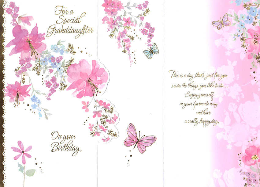 Wholesale Birthday Granddaughter Greeting Card 16768