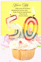 3407 - $3.99 Retail Each - Birthday By Age 50th PKD 6