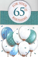 3433 - $4.99 Retail Each - Birthday By Age 65th PKD 3