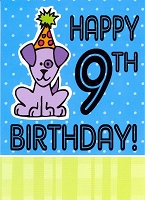 3546 - $2.50 Retail Each - Birthday By Age 9 PKD 6