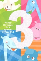 3569 - $3.49 Retail Each - Birthday Age 3 PKD 6