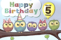3577 - $4.99 Retail Each - Birthday Age 5 PKD 3