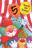 3578 - $3.99 Retail Each - Birthday Age 5 PKD 6