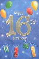 3596 - $3.99 Retail Each - Birthday Age 16 PKD 6