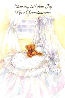 3801D - $2.80 Retail Each - New Grandparents Wrapped Card PKD 6