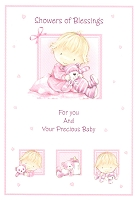 3813 - $3.40 Retail Each - Baby Shower Religious PKD 6
