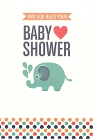 3837 - $3.99 Retail Each - Baby Shower Religious PKD 6