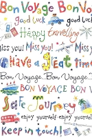 4516 - $3.49 Retail Each - Bon Voyage Enjoy Your Trip PKD 6