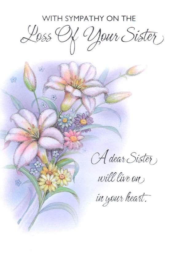 wholesale sympathy sister greeting card 175361