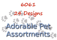 6061 - 24 Pets Card Assortment with Spinner PKD 6s