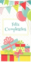 6395 - $2.80 Retail Each - Wrapped Spanish Cards - Birthday Moneyholder PKD 6