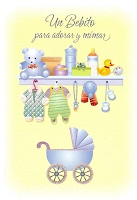 6706 - $2.80 retail Each - Wrapped Spanish Cards - Baby Boy Congratulations PKD 6