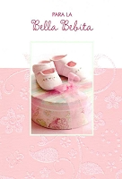 6708 - $2.80 Retail Each - Wrapped Spanish Cards - Baby Girl Congratulations PKD 6