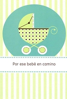 6709 - $2.80 Retail Each Wrapped Spanish Cards - Baby Shower PKD 6