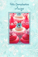 6710 - $2.80 Retail Each - Wrapped Spanish Cards - Birthday Friend PKD 6
