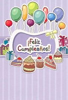6712 - $2.80 Retail Each - Wrapped Spanish Cards - Birthday General PKD 6