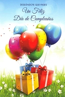 6721 - $2.80 Retail Each - Wrapped Spanish Cards - Birthday General PKD 6
