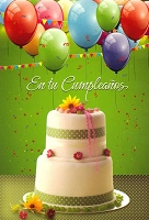 6723 - $2.80 Retail Each - Wrapped Spanish Cards - Birthday General PKD 6
