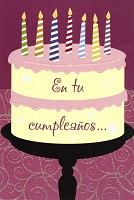 6724 - $2.80 Retail Each - Wrapped Spanish Cards - Birthday General PKD 6