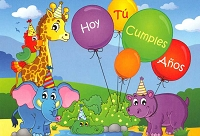 6736 - $2.80 Retail Each - Wrapped Spanish Cards - Birthday Juvenile General PKD 6