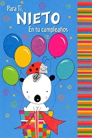 6745 - $2.80 Retail Each Wrapped Spanish Cards - Birthday Grandson Juvenile PKD 6