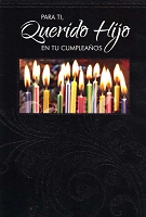 6749 - $2.80 Retail Each Wrapped Spanish Cards - Birthday Son PKD 6