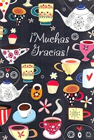 6762 - $2.80 Retail Each - Wrapped Spanish Cards - Thank You PKD 6