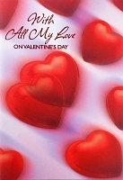 7024 - $5.99 Retail Each - Valentine Grandson Greeting Cards - English Language PKD 3