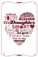 7035 - $3.99 Retail Each - Valentine Daughter Greeting Cards English Language PKD 3