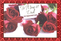 7074A - $3.99 Retail Each - Valentine Parents Greeting Cards - English Language PKD 3