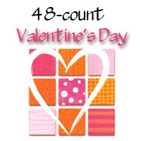 7124 - 48 Design wholesale Valentines Card Assort pkd 3's. Discounted 25% off wholesale