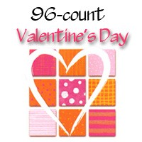 7126 - 96 design wholesale Valentine Card Assort pkd in 3's